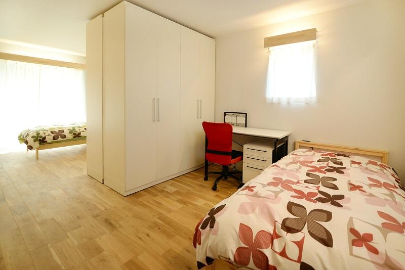 美濃加茂の匠建のモデルルームの寝室