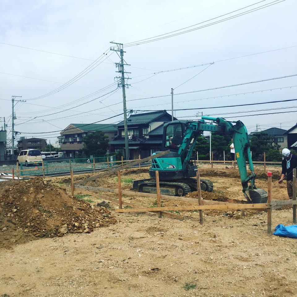 美濃加茂で新築、注文住宅なら匠建、建設中