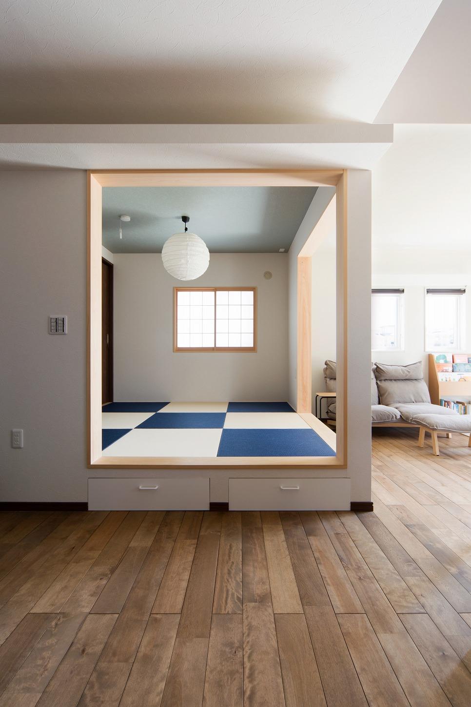 美濃加茂新築注文住宅匠建の日が当たる和室