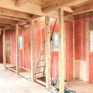 美濃加茂の匠建建設中の家