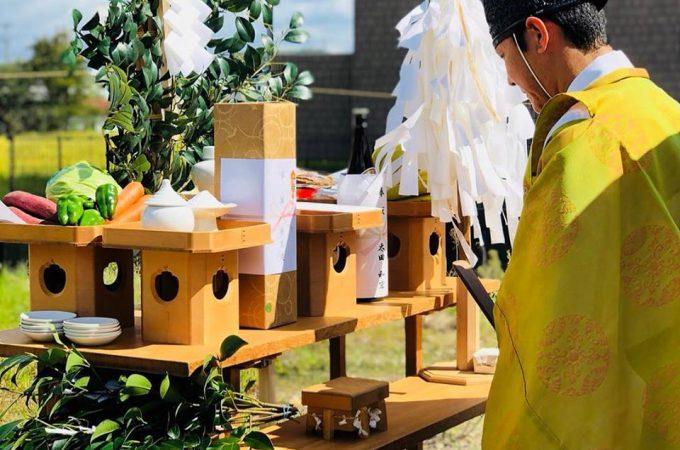 美濃加茂の匠建、犬山市新築工事地鎮祭