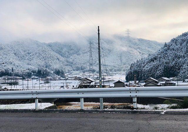 美濃加茂の匠建、雪山