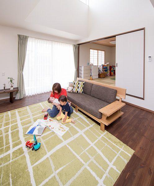 美濃加茂の匠建、子供が遊べる家